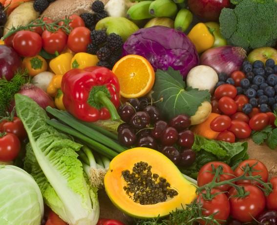 Gemüse und Obstpüree